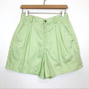 Vintage high waisted mom shorts light pastel green